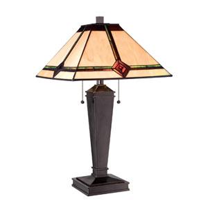 Karysa Dark Bronze Two-Light Table Lamp