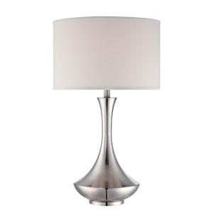 Elisio Polished Steel One-Light Table Lamp