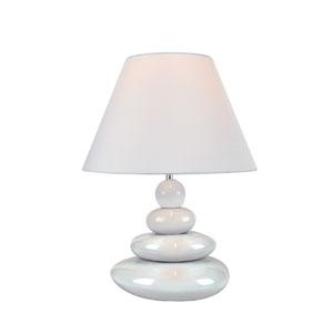 Tiya White One-Light Table Lamp