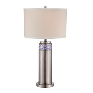 Cinzia Polished Steel LED Table Lamp