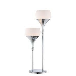 Celestel Polished Chrome Two-Light Table Lamp