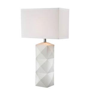 Robena White One-Light Table Lamp