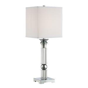 Nicolette Chrome One-Light Fluorescent Table Lamp