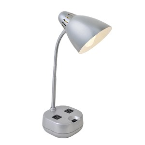 Kade Silver One-Light Fluorescent Desk Lamp