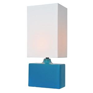 Kara Aqua One-Light Fluorescent Table Lamp