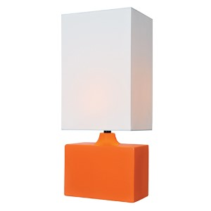 Kara Orange One-Light Fluorescent Table Lamp