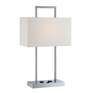 Jaymes Chrome One-Light Fluorescent Table Lamp