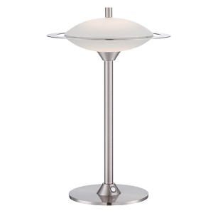 Obert Polished Steel LED Table Lamp