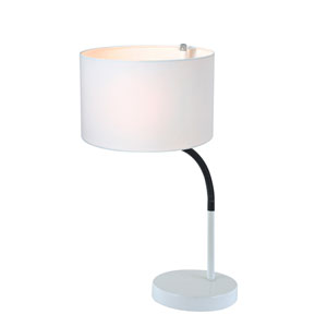 Gillian White 21-Inch One-Light Desk Lamp