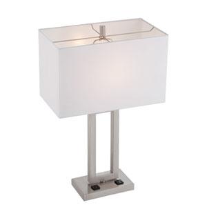 Fiadi Polished Steel One-Light Table Lamp