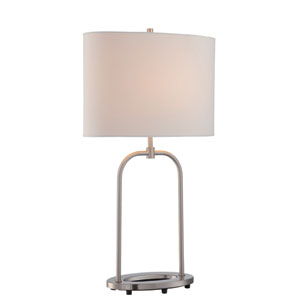 Cailean Polished Steel One-Light Table Lamp