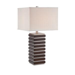 Dante Dark Walnut One-Light Table Lamp