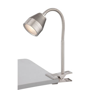 Nobu Polished Steel One-Light LED Clip-on Lamp