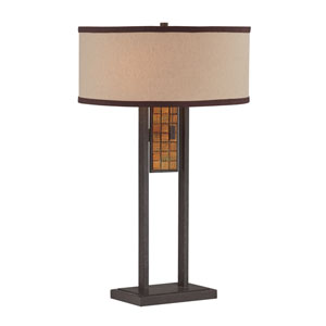 Marquetta Aged Bronze 25-Inch Two-Light Table Lamp
