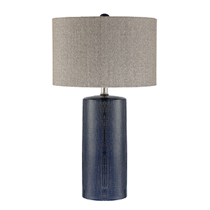 Jacoby Navy Blue One-Light Table Lamp