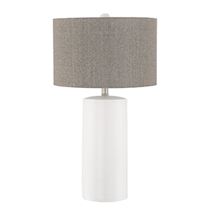 Jacoby White One-Light Table Lamp