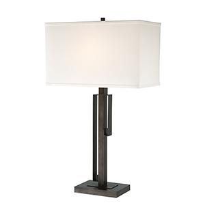 Kurtis Brushed Black One-Light Table Lamp