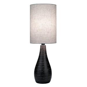 Quatro Brushed Dark Bronze 9-Inch Dia One-Light Fluorescent Table Lamp