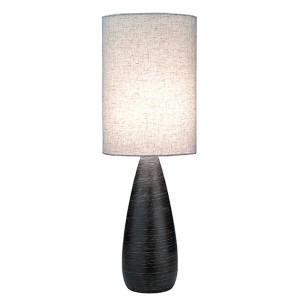 Quatro II Brushed Dark Bronze 9-Inch Dia One-Light Fluorescent Table Lamp