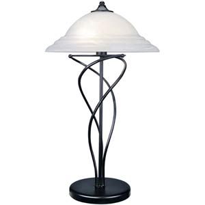 Majesty Black Two-Light Table Lamp