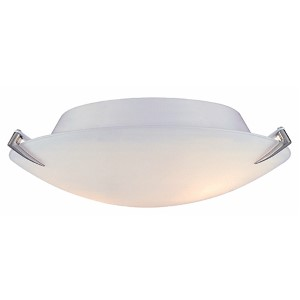 Nick Polished Steel Two-Light Flush Mount