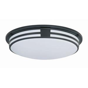 Vascello Black Fluorescent Flush Mount