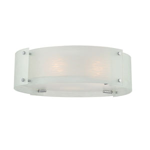 Kaelin Chrome Three-Light Flush Mount