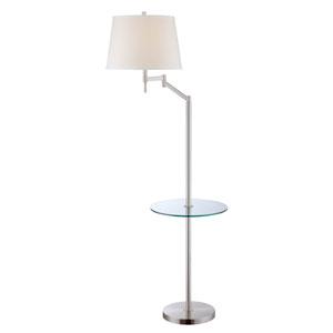 Eveleen Polished Steel One-Light Floor Lamp