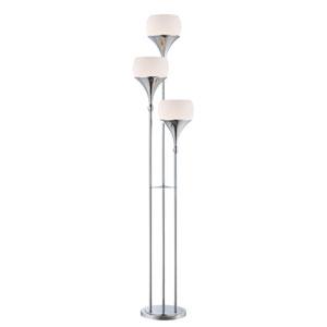 Celestel Polished Chrome Three-Light Floor Lamp