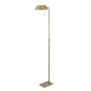 Wayland Brushed Brass One-Light Fluorescent Floor Lamp