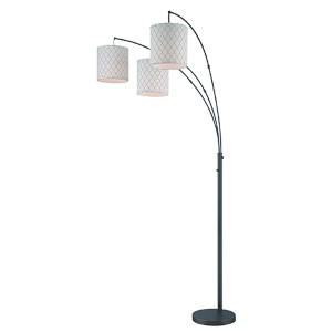Vasanti Dark Bronze Three-Light Floor Lamp