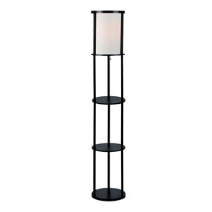 Laina Black 64-Inch One-Light Floor Lamp
