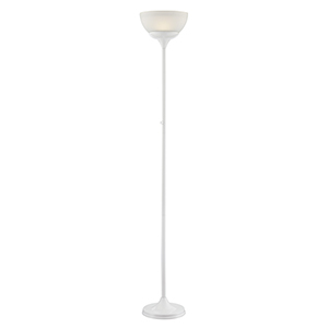 Ward White LED Torchiere Floor Lamp