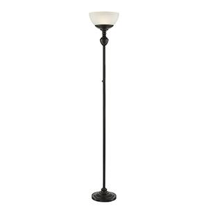 Stafford Dark Bronze LED Torchiere Floor Lamp