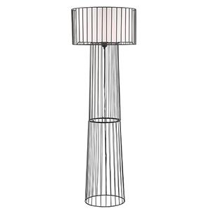 Winslow Black One-Light Floor Lamp