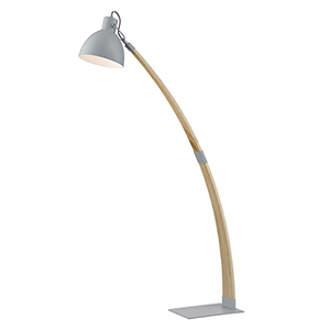 Arden Grey and Wood 60-Inch One-Light Floor Lamp