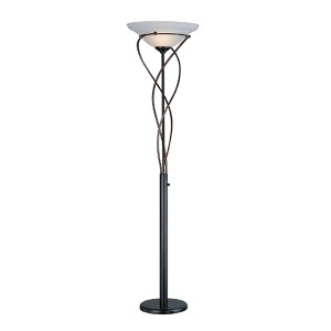 Majesty Dark Bronze One-Light Torchiere Lamp