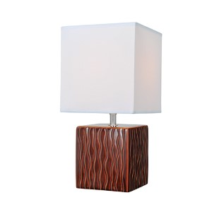 Kube Coffee One-Light Fluorescent Table Lamp