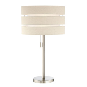 Falan Brushed Nickel One-Light Table Lamp
