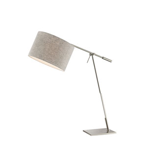 Lucilla Brushed Nickel and Grey One-Light Table Lamp