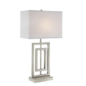 Bensky Brushed Nickel 15-Inch One-Light Table Lamp