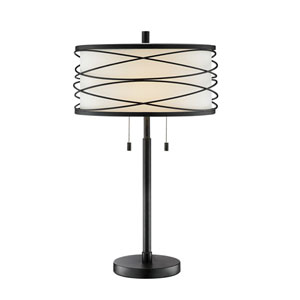 Lumiere Black Two-Light Table Lamp