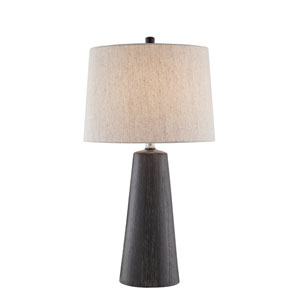 Trusson Textured Black One-Light Table Lamp