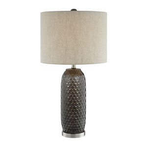 Covington Bronze and Silver One-Light Table Lamp