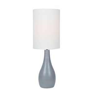 Quatro Brushed Grey One-Light Fluorescent Table Lamp