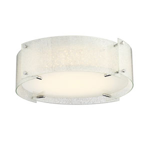 Kaelin Chrome 17-Inch LED Flush Mount