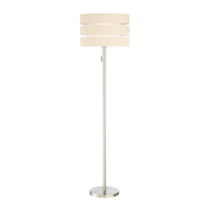 Falan Brushed Nickel One-Light Floor Lamp