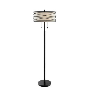 Lumiere Black Two-Light Floor Lamp
