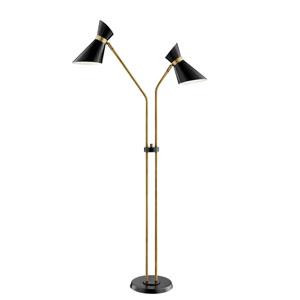 Jared Black Two-Light Floor Lamp