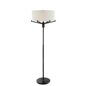 Jerod Two-Toned Black Three-Light Floor Lamp